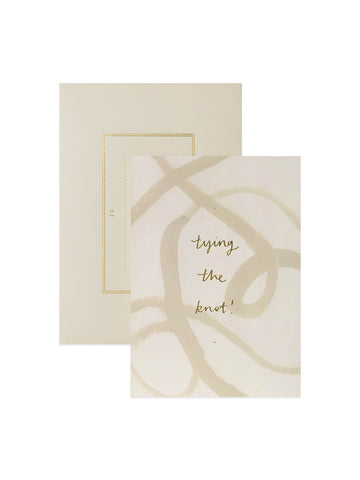Wanderlust Paper Co tying the knot card