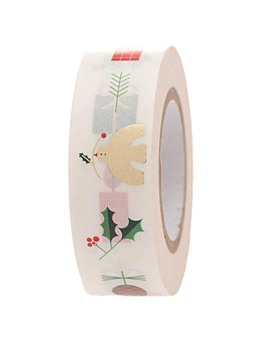White festive washi tape