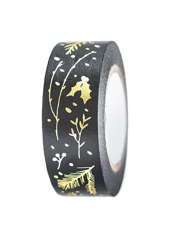black foil washi tape