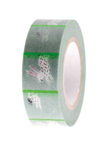 Mint bunny washi tape