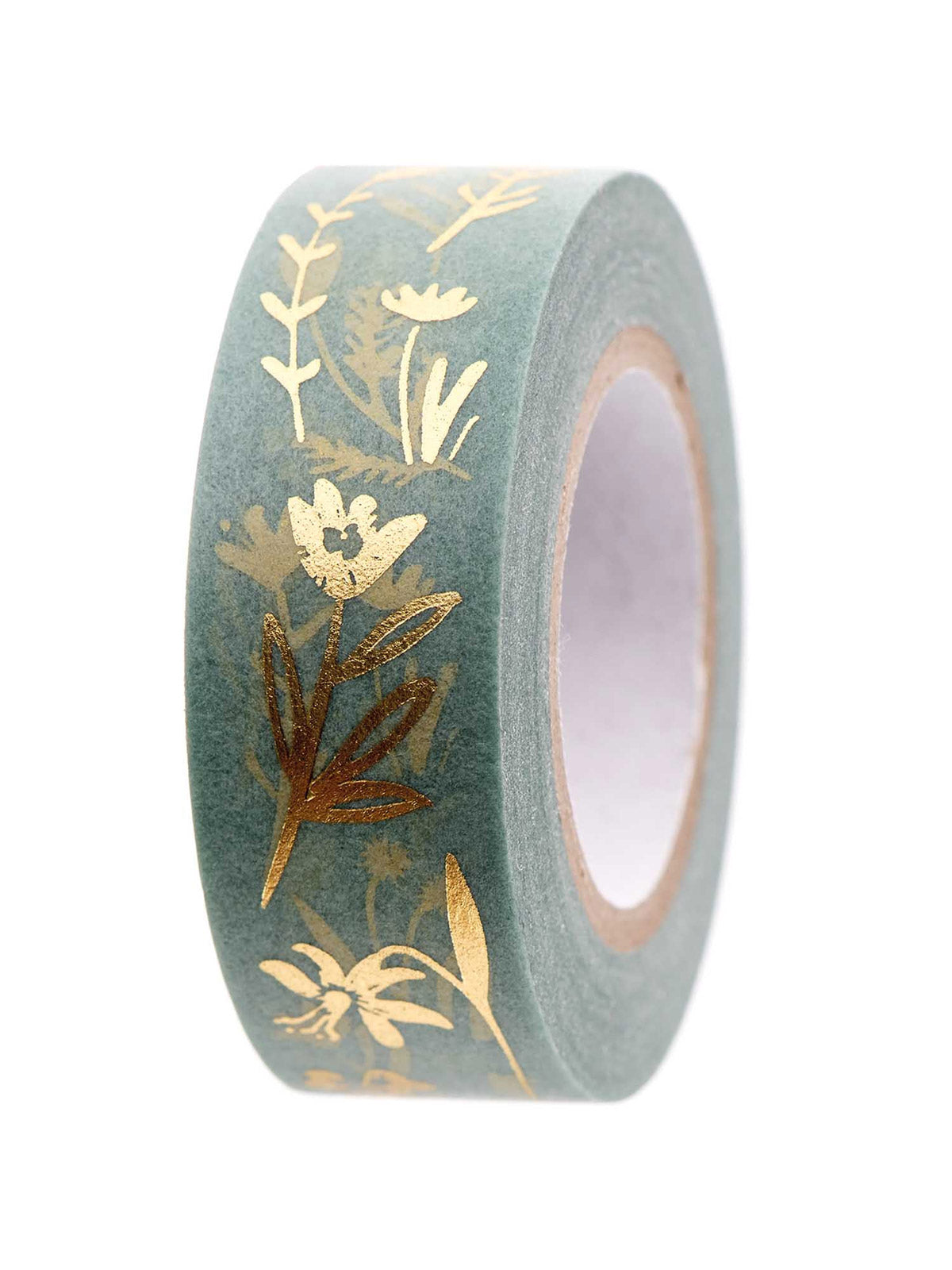 mint floral washi tape