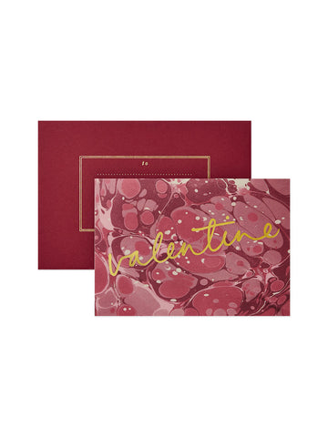 Red marbled Valentines card