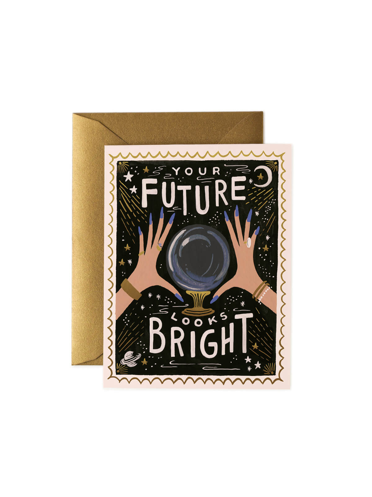 Rifle Paper Co your future looks bright card