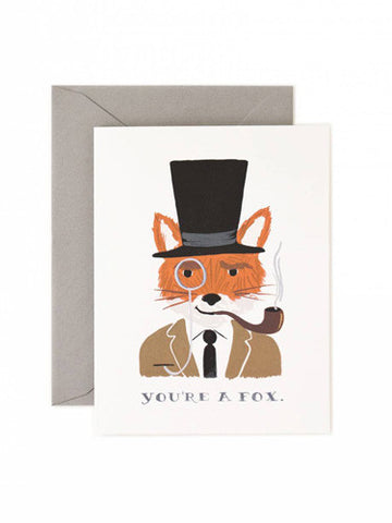 Rifle Paper Co You're a Fox card