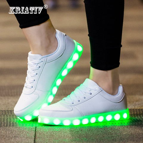 KRIATIV USB Charger glowing sneakers Lighted shoes for Boy&Girl Casual led shoes for children led slippers Luminous Sneakers