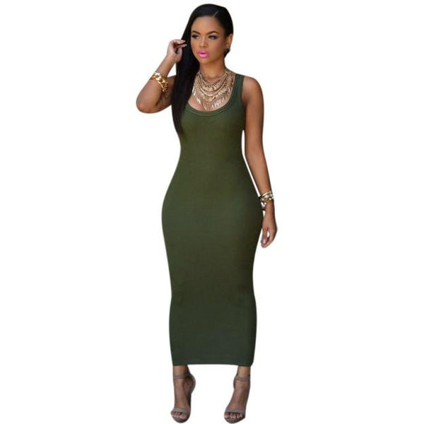 Women Summer Bandage Bodycon  Party Cocktail Maxi Long Dress