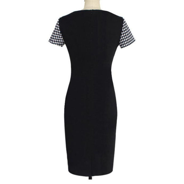 Women Short Sleeve Sexy Dress Office Bodycon Dresses
