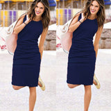 Womens Holiday Sleeveless Sundress Ladies Summer Beach Casual Party Dress