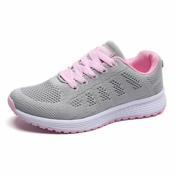 Women casual shoes high quality fashion breathable Walking mesh lace up flat shoes sneakers women 2018 tenis feminino
