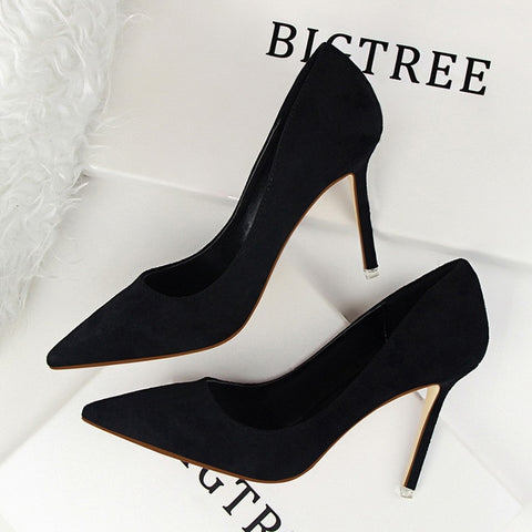 Women Pumps Fashion 9cm High Heels For Women Shoes Casual Pointed Toe Women Heels Chaussures Femme Stiletto Ladies  516-1