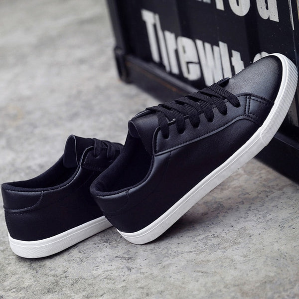 New Spring and Summer With White Shoes Women Flat Leather Canvas Shoes Female White Board Shoes Casual Shoes Female