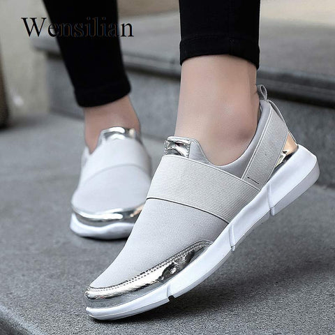 Fashion Sneakers Women Trainers Vulcanized Shoes Casual Tenis Feminino Ladies Shoes 2019 Summer Breathable Zapatillas Mujer