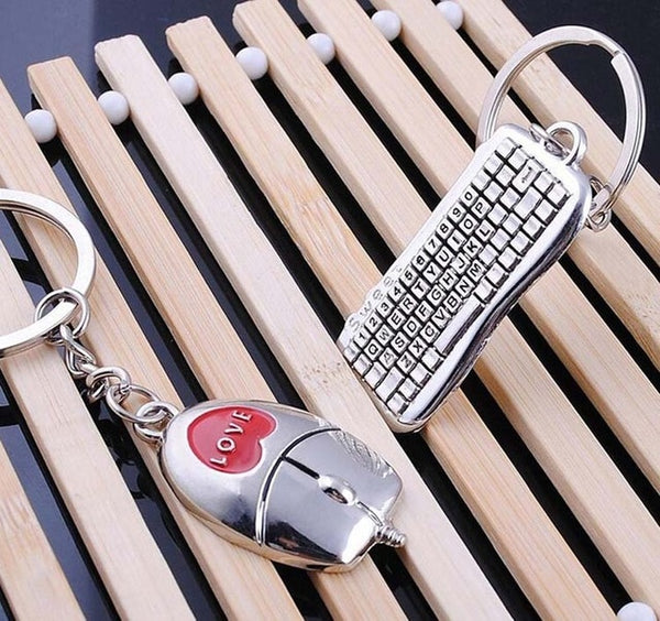 New Trendy Hot Sale 1 Pair Silver Key Chain Alloy Arrow Bow Love Keyrings Key Chains Lovers Ring Couples keychain for Gift 17343