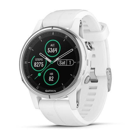שעון Garmin Fenix 5s Plus Sapphire White with White Band