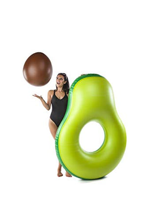 BigMouth Inc Avocado Pool Float with Pit Beach Ball, Inflatable Avocado Pool Tube Set with Pit