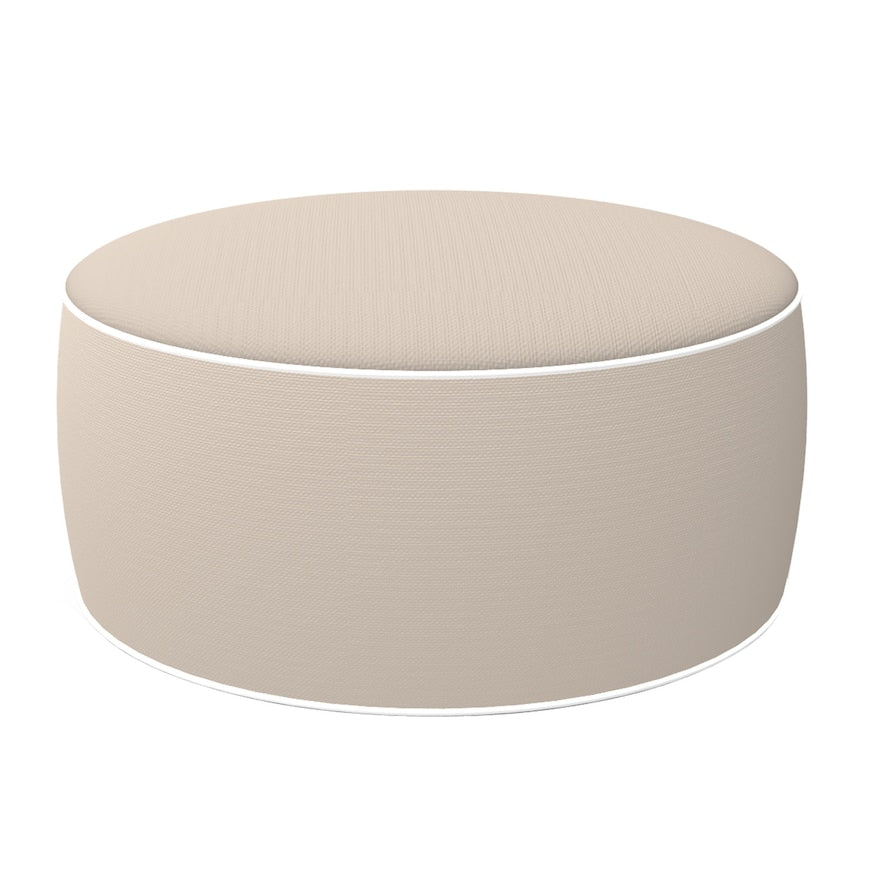 Edie Home EBB788XXBEIGB1 21 Dia. x 10 in. Outdoor Inflatable Ottoman, Beige