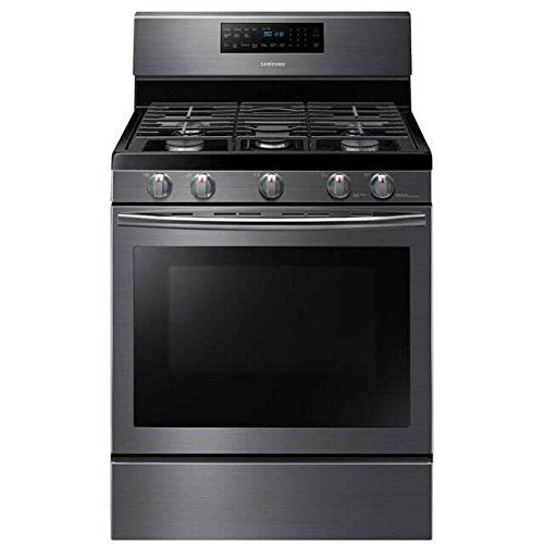 "Samsung Appliance NX58J5600SG 30"" Freestanding Gas Range with 5.8 cu. ft. Convection Oven in Stainless Steel"