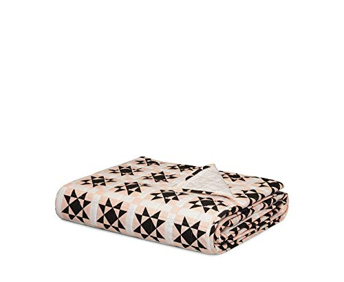 Calvin Klein Home Abigail Quilt Queen, Light Pink/Black/White