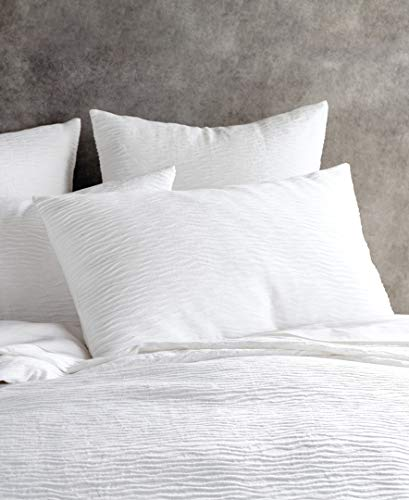 DKNY Stonewashed Matelasse Cotton European Pillow Sham, White