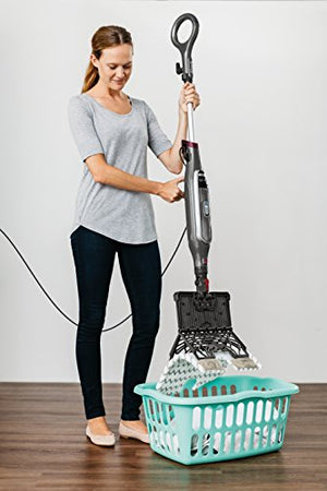 Shark Genius Hard Floor Cleaning System Pocket (S5003D) Steam Mop, Burgundy/Gray