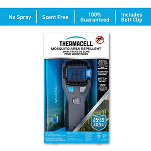 Thermacell MR450 Armored Portable Mosquito Repellent; Features ZoneCheck, Quiet Ignition and Rubber Grip; Provides 15-Foot Zone of Mosquito Repellent; Runs on Long-Lasting Refills; No Spray, No Scent
