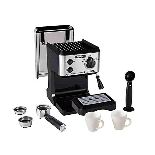 Mr. Coffee BVMC-ECMP80 Home Kitchen Italian 19 Bar Pump Automatic Cappuccino, Latte, Espresso Maker Machine with 2 Ceramic Cups, Black