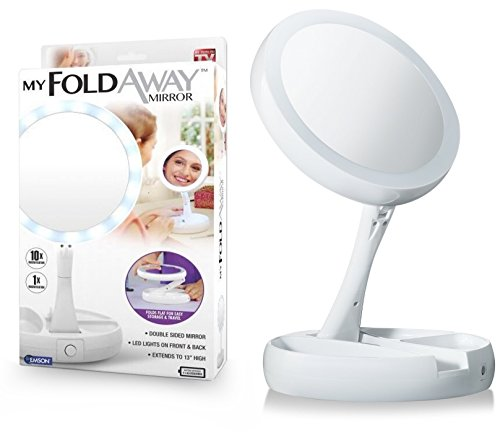 Emsco Group My Fold-Away Distortion-Free, LED-Illuminated and Two-Sided Mirror As Seen On TV