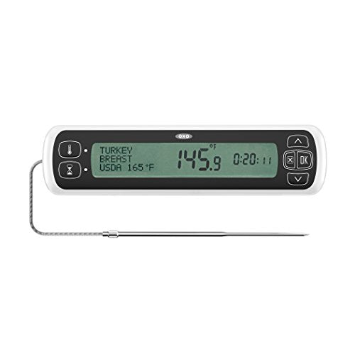 OXO 11231300 Good Grips Chef's Precision Digital Leave-In Thermometer, Stainless Steel
