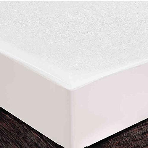 Healthy Nights Terry Fitted Mattress Cover in White (Twin)