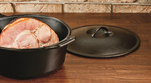 Lodge B0001DJVGU Seasoned Dutch Oven, 7 Quart, 7 qt, Black