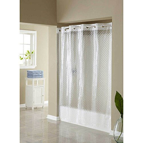 Hookless Hangs in Seconds EVA Shower Curtain (Clear Diamond)