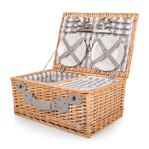 Picnic Time 22-Piece Insulated Picnic Basket for 4