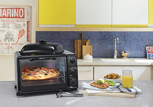 Maxi-Matic ERO-2019S Countertop Toaster Oven with Top Grill & Griddle Rotisserie, Bake, Grill, Broil, Roast, Toast, Keep Warm, 23L Capacity, 6-Slice