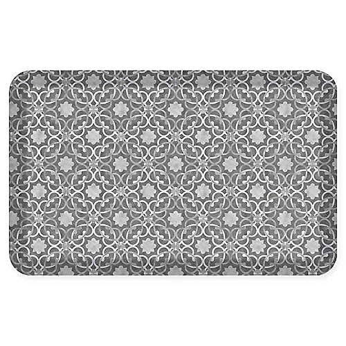 GelPro Designer Comfort Verona 20 in x 32 in Kitchen Mat in Storm Cloud