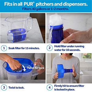 PUR Water Ultimate Lead Reduction Pitcher Replacement Filter 3 Pk, 3 Pack, Blue