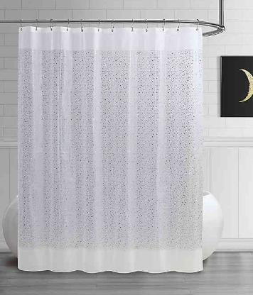 Steve Madden Star PEVA Shower Curtain