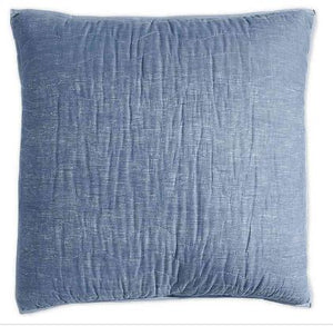 DKNY Cotton Voile European Pillow Sham in Blue Chambray