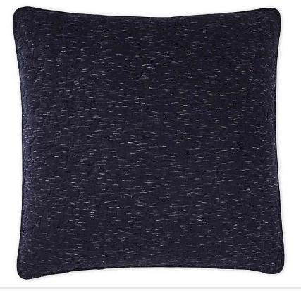 DKNY Speckled Jersey European Pillow Sham in Navy