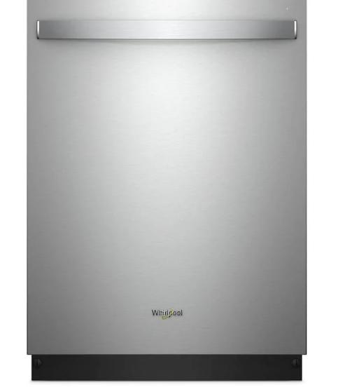 Whirlpool 51-Decibel Top Control 24-in Built-In Dishwasher (White) ENERGY STAR