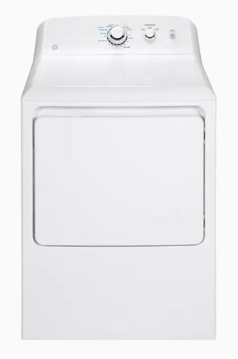 GE 7.2-cu ft Electric Dryer White (GTD33EASKWW)