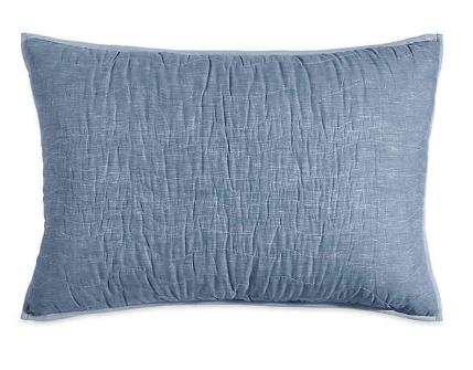 DKNY Cotton Voile Standard Pillow Sham in Blue Chambray