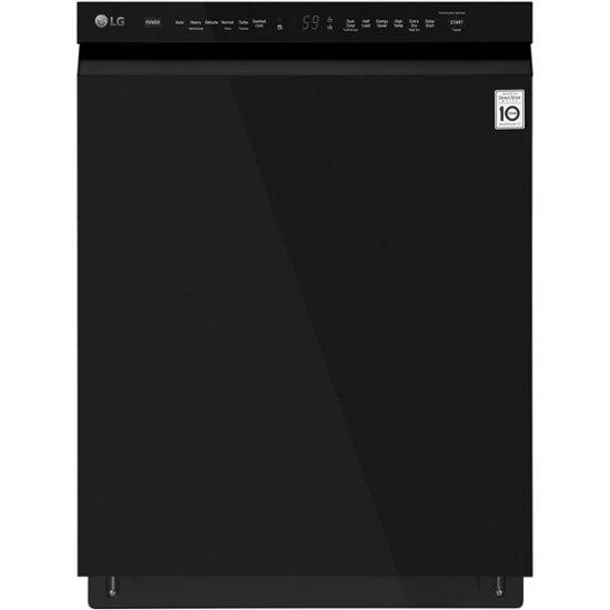 LG TrueSteam Smart Wi-Fi Enabled 42-Decibel Top Control 24-in Built-In Dishwasher (Fingerprint-Resistant Mattle Black Stainless Steel) ENERGY STAR
