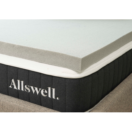 Allswell 3 Memory Foam Mattress Topper Infused with Graphite, Full
