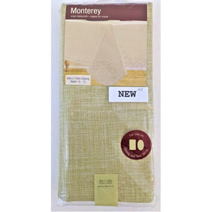Monterey 60-Inch x 120-Inch Oblong Vinyl Tablecloth in Natural