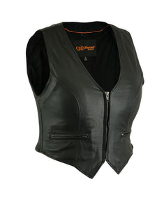DS238 Women's Stylish Lightweight Zipper Front Vest