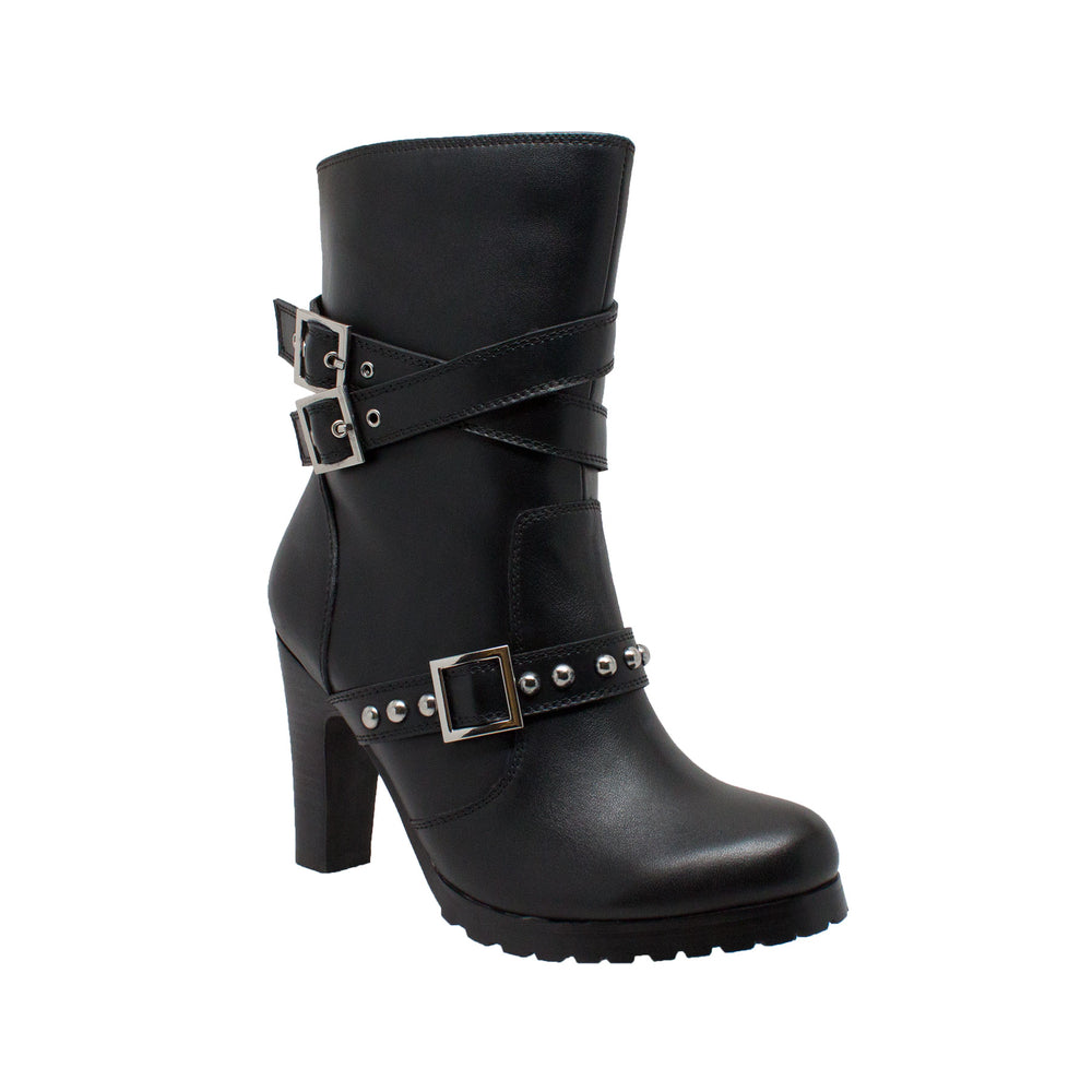 8545 Women's 3-Buckle Boot with Heel