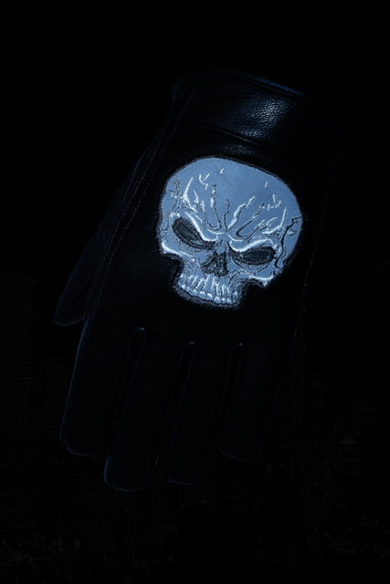 DS47   Reflective Skull Short Glove