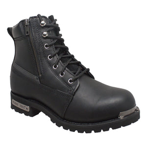 9797M Mens 6' Reflective Double Zipper Biker Boot
