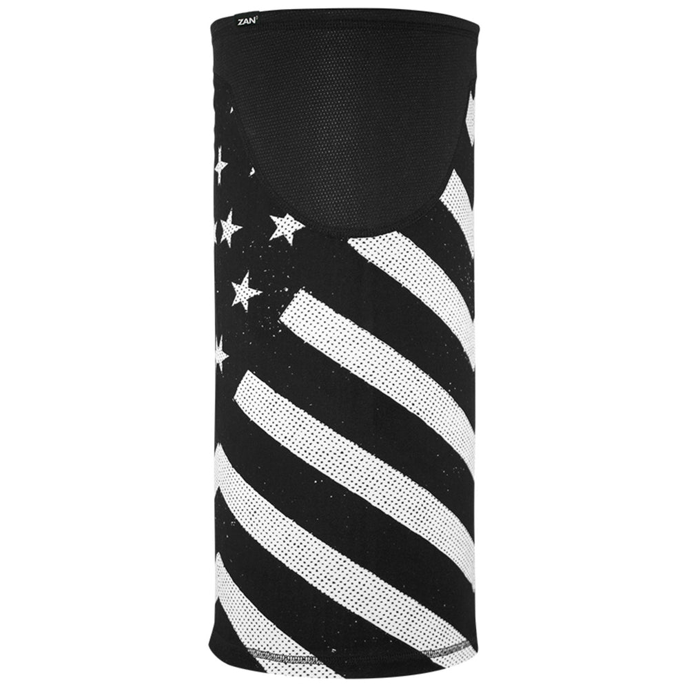 TW091 Tube, Windproof, Black & White Flag