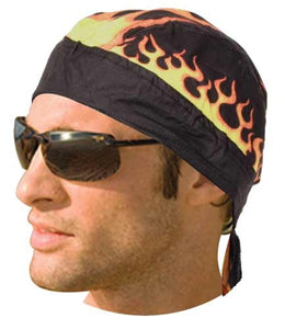 HW2684 Headwrap Flames